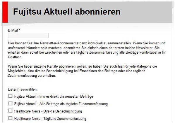 Fujitsu Aktuell Aboseite