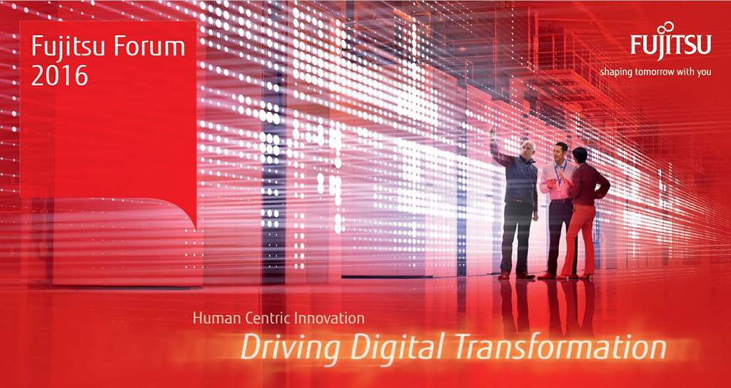 Fujitsu Forum 2016 Ankündigung - Driving Digital Transformation - Digitale Transformation