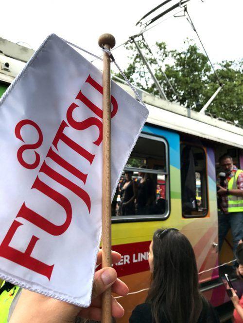 Die Regenbogenparade Wien - und Fujitsu mittendrin