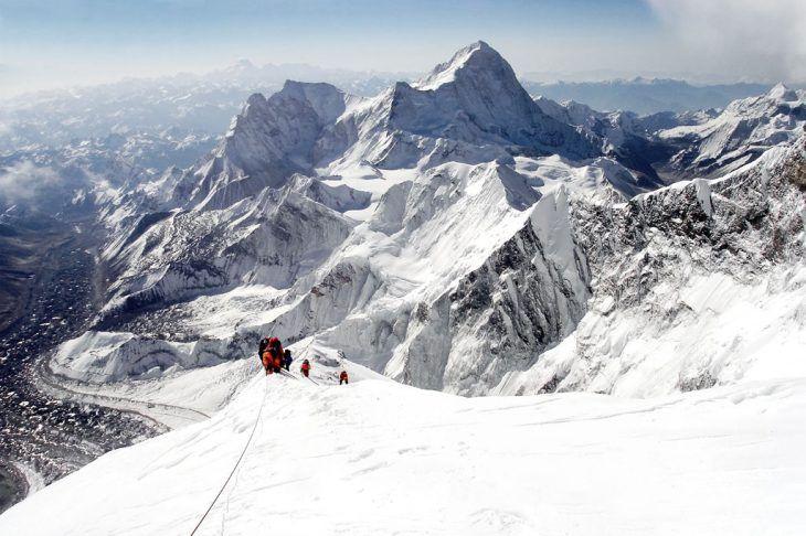 Bergsteiger auf dem Gipfel