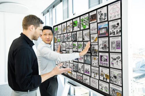 Die FUJITSU Digital Transformation Center laden zur Co-creation ein.
