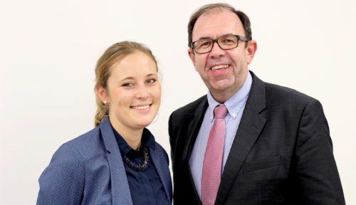 Aktiv fürs CIO-Network - Anna Kilger (IHK Schwaben) und Robert Mayer