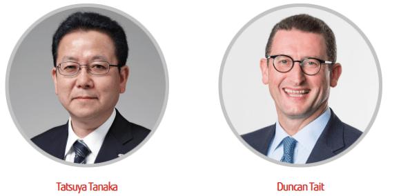 Keynotes auf dem Fujitsu Forum 2018: Tatsuya Tanaka / Duncan Tait