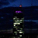 PurpleLightUp - der beleuchtete Turm in Neckarsulm