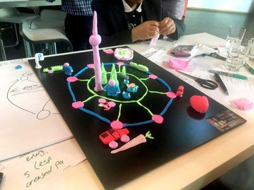 Farbenfrohe Modelle für nachhaltige Städte und Gemeinden