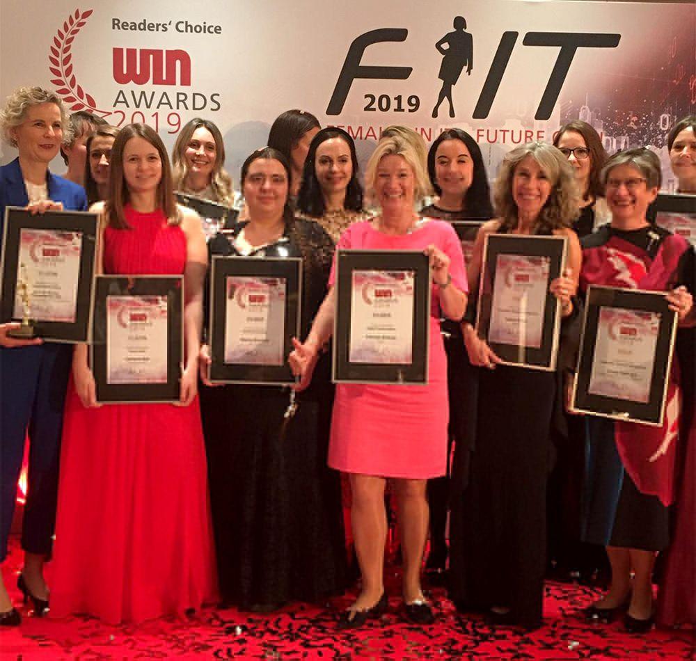 Felicitas Birkner mit den weiteren Preisträgerinnen bei den FIT-Awards