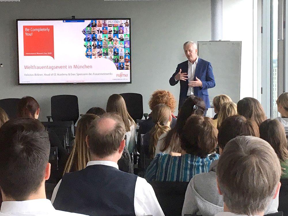 Rupert Lehner beim Event in München