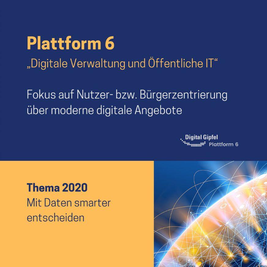 """Fujitsu engagiert sich insbesondere in der Plattform 6: """"Digitale Verwaltung und Öffentliche IT""""."""