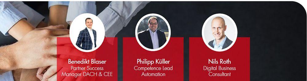 Robotic Process Automation: Webinar mit den Fujitsu Experten Nils Roth und Philipp Küller sowie Benedikt Blaser von Automation Anywhere.
