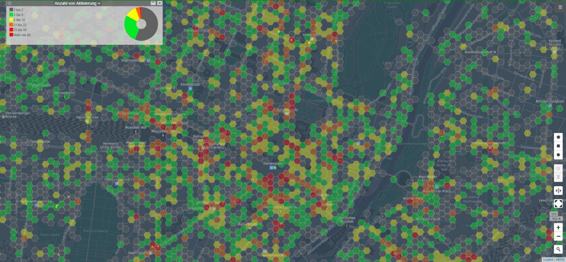 Density-Grid der summierten Aktivitäten pro definierter Zelle